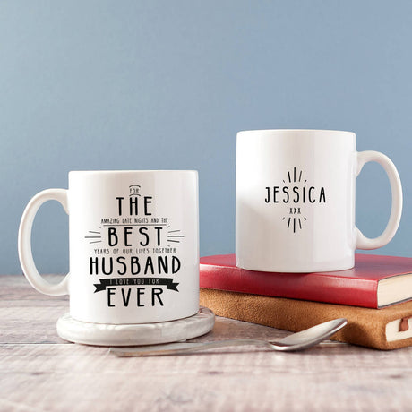 Personalised 'Best Husband Ever' Secret Message Mug