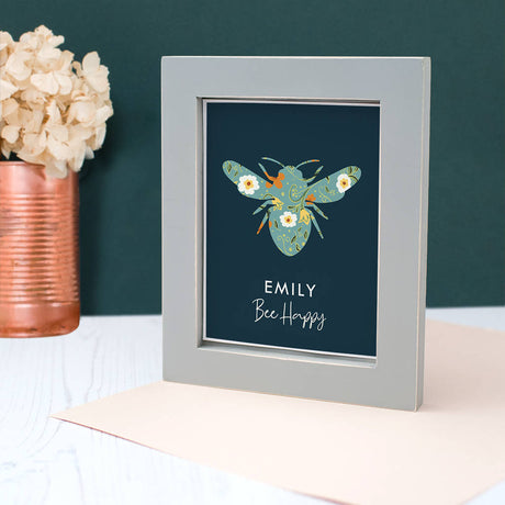Personalised 'Bee Happy' Framed Print