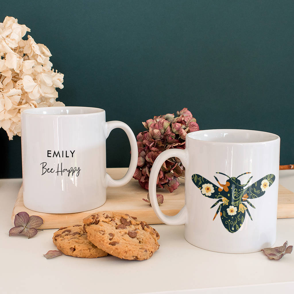 Special Edition Personalised 'Bee Happy' Mug