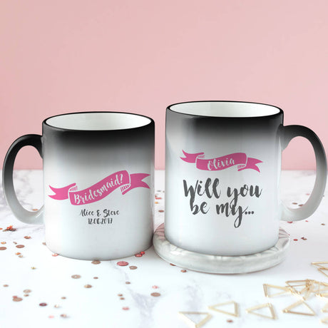 Personalised Secret Colour Changing Bridesmaid Mug