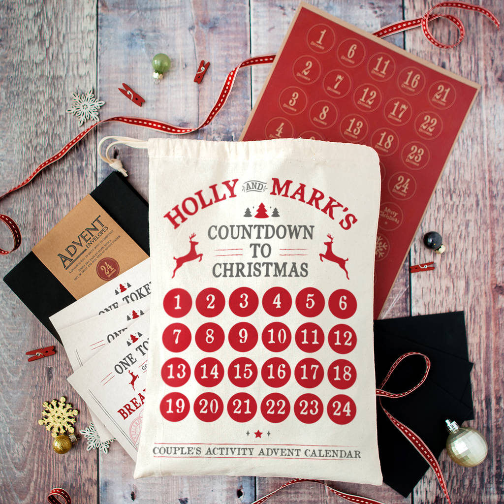 Personalised Couples Christmas Advent Calendar | The Little ...