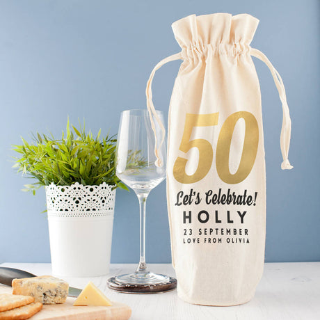 birthday wine bag