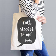 funny alcohol tote bag