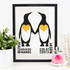 personalised penguin print