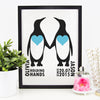 penguin couple print