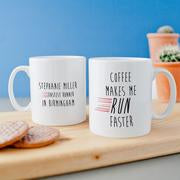 Personalised 'Coffee Makes Me run Faster' Coaster