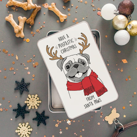 Personalised Christmas Pet Treat Storage Tin
