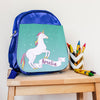 Children's Personalised Unicorn Teal Backpack