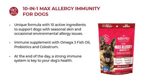 Max Allergy + Immunity Chew package & product description