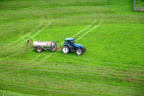 green field and the machine