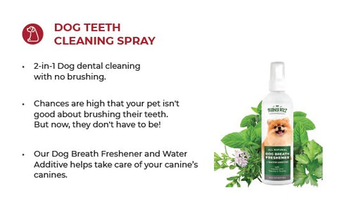 Dog teeth cleaning bottle & product description