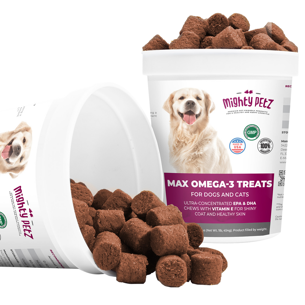 Mighty Fish Oil Omega-3 Soft Chews For Dogs & Cats  - More Chews