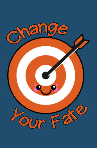Kawaii Archery Target Change Your Fate Paperback Blank Paperback Journal
