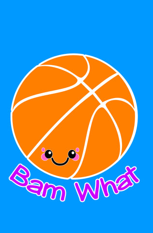 Kawaii Basketball Bam What Blank Paperback Journal