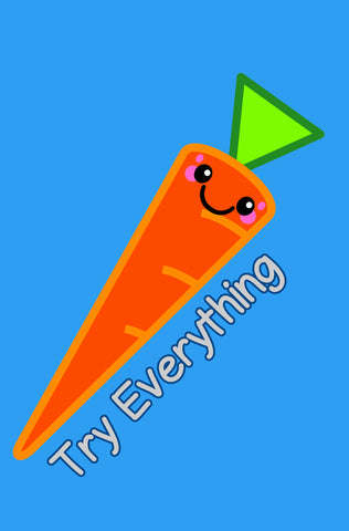 Kawaii Carrot Try Everything Blank Paperback Journal
