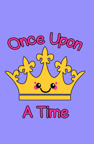 Kawaii Crown Once Upon A Time Blank Journal