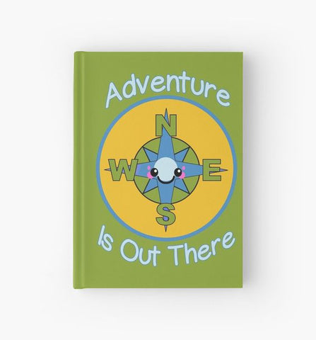Adventure Is Out There Kawaii Compass Hardcover Journal