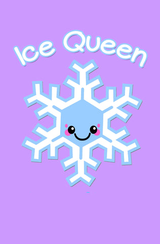 Ice Queen Kawaii Snowflake Blank Paperback Journal