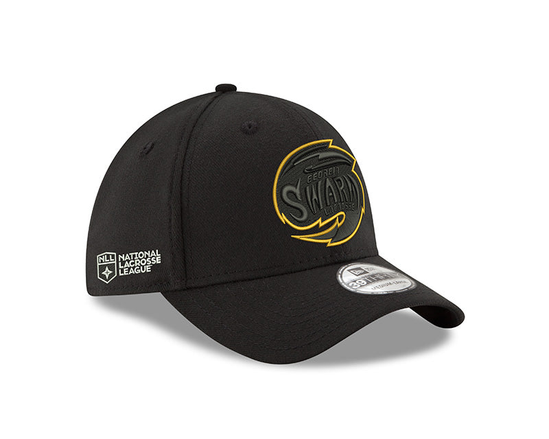 GA Swarm Cap - New Era Flexfit NLL (Blackout Logo)
