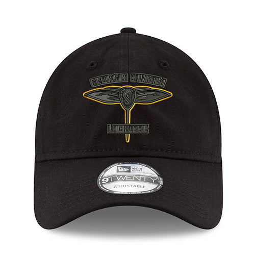 GA Swarm Cap - New Era Adjustable NLL (Blackout Stinger Logo)