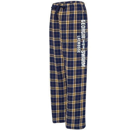 Pants - Navy and Gold Flannel Pant