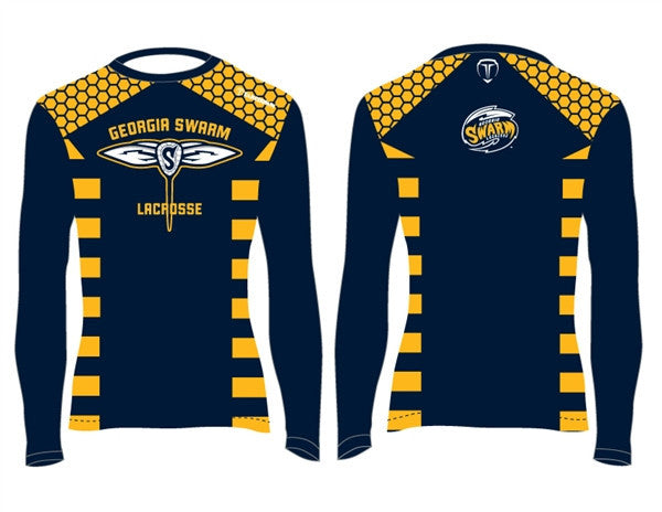 GA Swarm Outerwear - Lacrosse Jersey Replica Long Sleeve Shirts