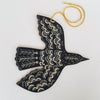 Screenprint Plywood Blackbird | Black