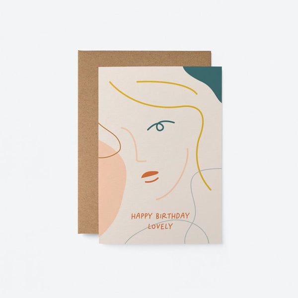 Graphic Art Card | Happy Birthday Lovely