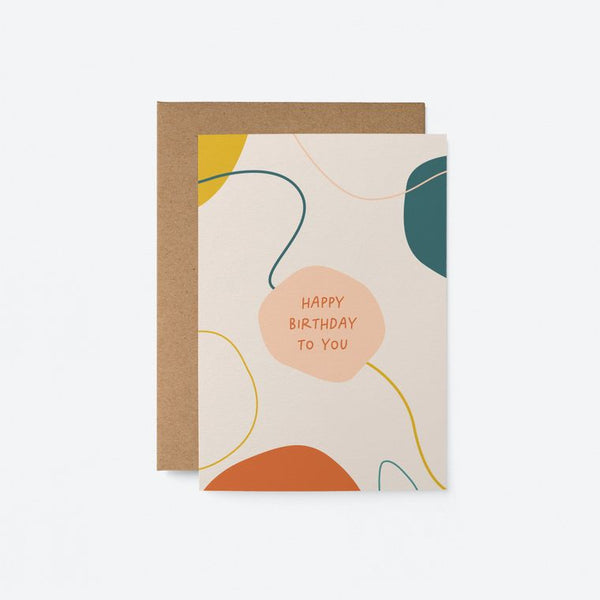 Graphic Art Card | Happy Birthday to You