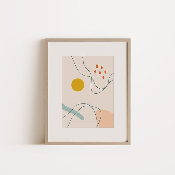 Graphic Art Poster | Abstract Yellow Dot