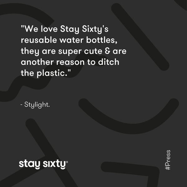 Stainless Steel Water Bottles | Metal Reusable Water Bottle | Stay Sixty®