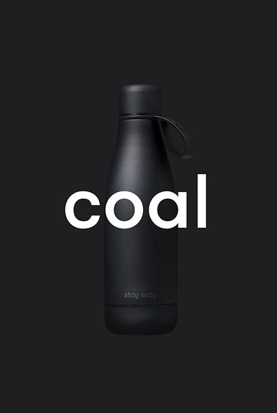 Stay Sixty® | Stainless Steel Water Bottles | Coal Edition