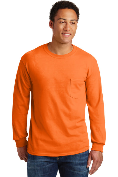Gildan® - Ultra Cotton® 100% Cotton Long Sleeve T-Shirt with Pocket.  2410