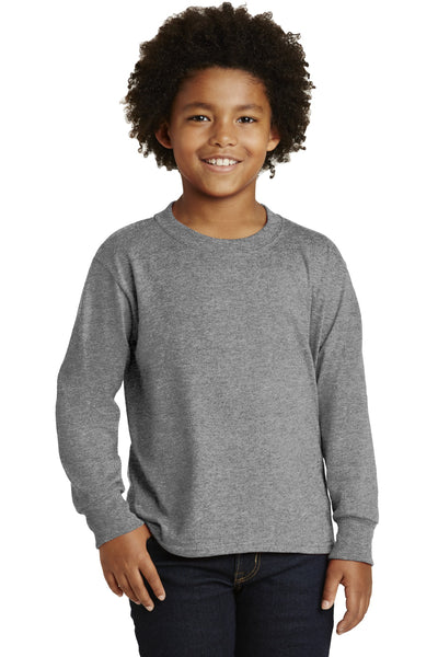 JERZEES® Youth Dri-Power®  Active 50/50 Cotton/Poly Long Sleeve T-Shirt. 29BL