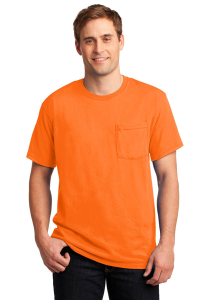 JERZEES® -  Dri-Power® Active 50/50 Cotton/Poly Pocket T-Shirt.  29MP