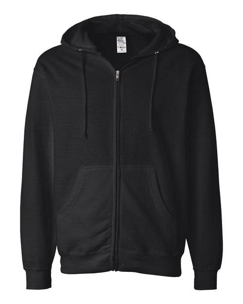 Midweight Hooded Full-Zip Sweatshirt (Black)
