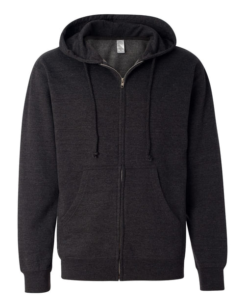 Midweight Hooded Full-Zip Sweatshirt (Charcoal Heather)