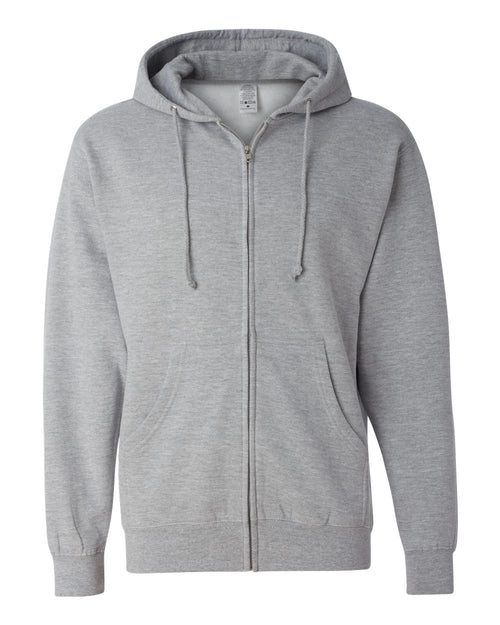 Midweight Hooded Full-Zip Sweatshirt (Grey Heather)