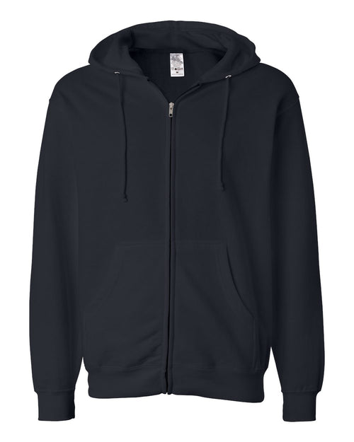 Midweight Hooded Full-Zip Sweatshirt (Navy)