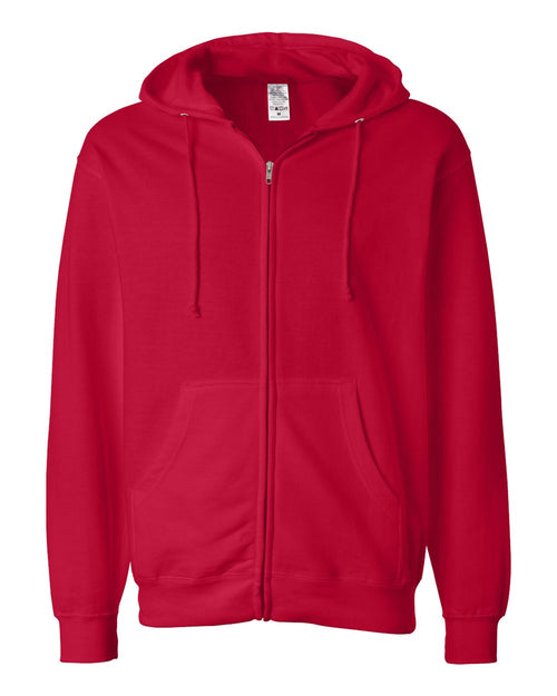 Midweight Hooded Full-Zip Sweatshirt (Red)