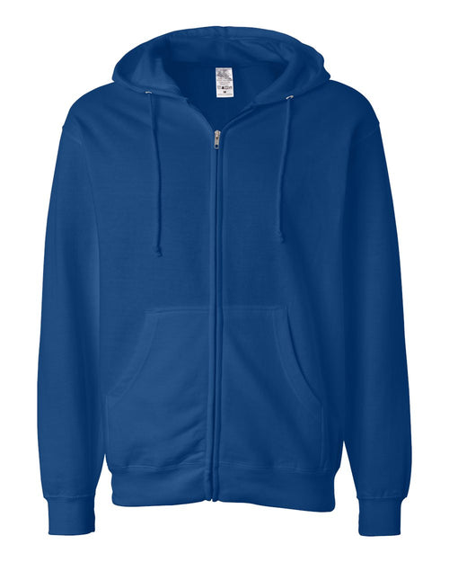 Midweight Hooded Full-Zip Sweatshirt (Royal)