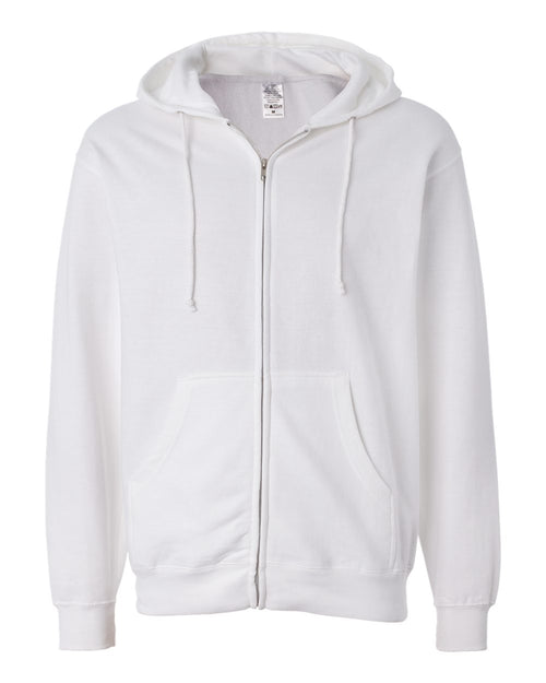 Midweight Hooded Full-Zip Sweatshirt (White)