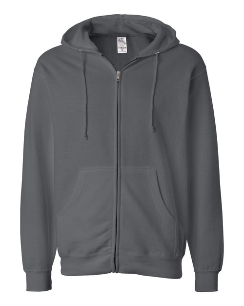Midweight Hooded Full-Zip Sweatshirt (Charcoal)