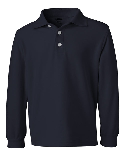 Boys' Long Sleeve Pique Polo