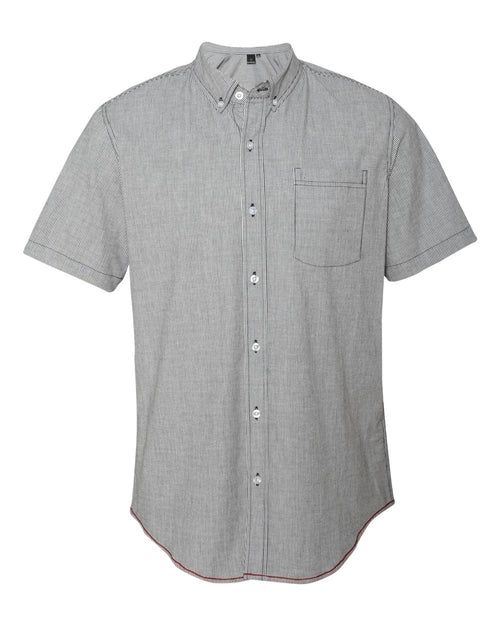 Stretch-Stripe Short Sleeve Shirt