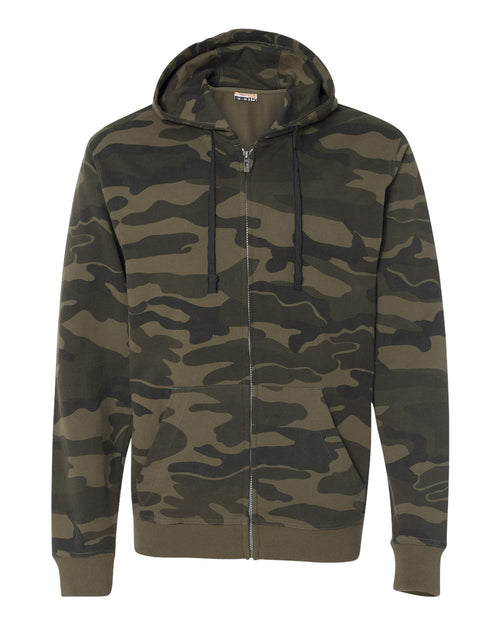Camo Hooded Full-Zip Sweatshirt