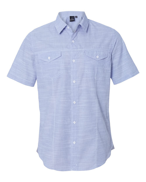 Textured Solid Short Sleeve Shirt