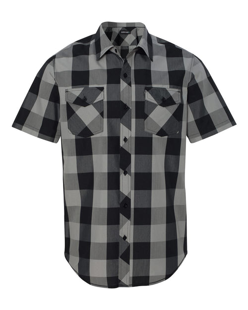 Buffalo Plaid Short Sleeve Shirt