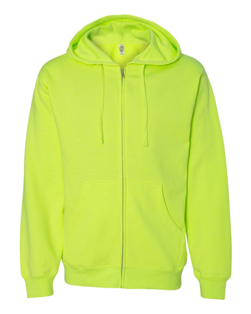 Midweight Hooded Full-Zip Sweatshirt (Safety Yellow)