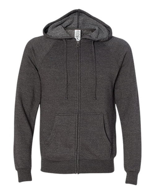 Unisex Special Blend Raglan Hooded Full-Zip Sweatshirt